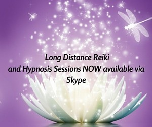 Long Distance Reiki and Hypnosis Sessions NOW available